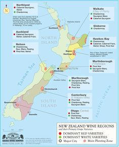Marlborough is one of the ten major wine regions in New Zealand. Home to more than 100 wineries supplied by local growers, Marlborough is known for its Sauvignon Blanc and Pinot Noir wines. In fact, of New Zealand Sauvignon Blanc comes from Marlborough. Map Of New Zealand, New Zealand Wine, New Zealand Travel, New Zealand Food, Boot Camp, Wine Making Kits, Wine Direct, Wine Tasting Events, Buy Wine Online