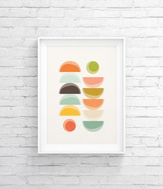 Modern wall art, Abstract shape, Minimalist art poster, Geometric print, Nordic design, Mid century modern Scandinavian print Wall Decor 015 - pinned by pin4etsy.com