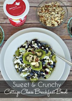 Need new healthy breakfast ideas? This Cottage Cheese Breakfast Bowl has it all - the perfect mix of salt and sweet plus protein to get you thru the day!
