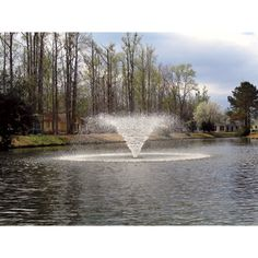 The Kasco Aerating Fountain features a display aerator with black float ring. Produces a V-shaped display pattern in diameter an. Farm Pond, Garden Pond, Backyard Water Feature, Ponds Backyard, Backyard Ideas, Pond Landscaping, Landscaping With Rocks, Living Pool, Building A Pond