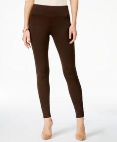 42e0f44d6e5f96 INC Curvy Pull-On Skinny Pants, Created for Macy's - Black 16 Seamless  Leggings