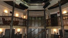 Men of Letters Balcony ||| Supernatural. This place is so cool!! That huge library....