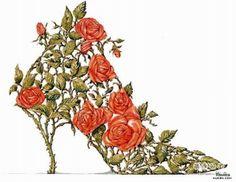 Sapato flor ilustração