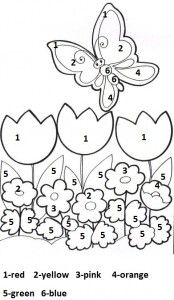 Best Spring Worksheet For Kids Images  Paint By Number Fine  Free Printable Spring Worksheet For Kindergarten   Crafts And Worksheets  For Preschool