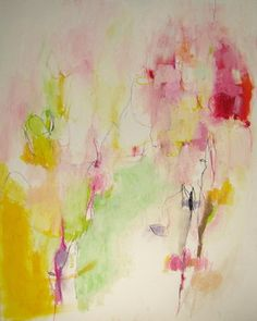 "Saatchi Online Artist Mary Ann Wakeley; Painting, ""Field of Love"" #art"