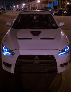 Mitsubishi EVO X                                  I love colored headlights