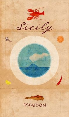 Sicily by Phaidon Press Editors, Pamela Sheldon Johns and Silver Spoon Kitchen Staff Hardcover) for sale online Messina, Palermo, Catania, Sicilian Recipes, Sicilian Food, Cookery Books, Silver Spoons, Slow Food, Vintage Travel Posters