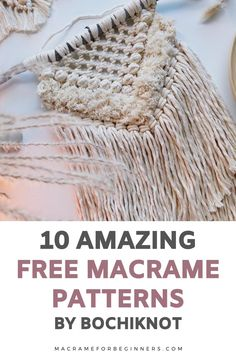 Do you want to learn how to make gorgeous Macrame wall hangings, bags, and the cutest baby nursery projects? Then you'll love Bochiknots amazing free projects and tutorials! Run by self-taught Macrame artist Nicole from Calgary, Canada, this Youtube Channel is just what you need to improve your #Macrame skills! I'm so happy and honored I had a chance to talk to Nicole and ask her all about her journey into becoming such a talented Macrame teacher. #macrameforbeginners #macramepatterns