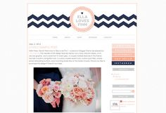 "Blogger Premade Template Design - ""Ella Loves Finn"" Instant Digital Download"