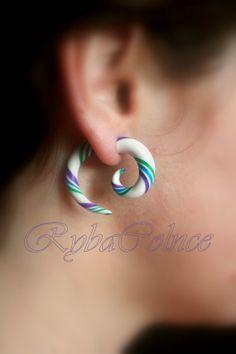 Fake ear tentacle gauge The Rainbow