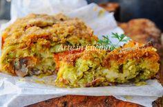 Rotolo di zucchine gratinato con formaggio, ricetta facile e veloce, piatto unico semplice e saporito