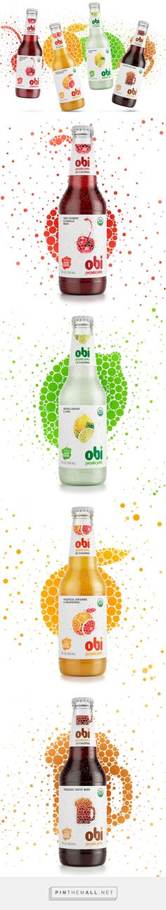 Obi Pr(obi)otic Soda by The Creative Method. Source: Daily Package Design Inspiration. Pin curated by #SFields99 #packaging #design