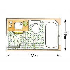 Baño 1.50x2.50 mts.