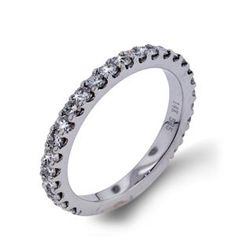 Arthurs Collection Diamond Prong Set White Gold Womens Wedding bands DR4426B-75 #ArthursJewelers