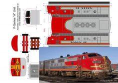 """Passenger locomotive EMD FT """"Santa FE"""" c train car (repainted"""