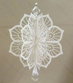 FREE SVG and other cutting files Christmas decor from monicascreativeroom. Lots of freebies and creative ideas.. each piece of the decoration also doubles as a lacy doily background for cards....Tree decoration, Home Decor, lit candle snowflake,
