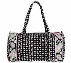 Vera Bradley Signature Print Double Handle Large Duffel — QVC.com