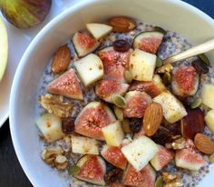 Bircher Muesli with Chia Seeds, Figs, and Apples   25 Meat-Free Clean Eating Recipes That Are Actually Delicious