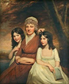 Mrs Peat and her daughters (Janet, and Anne, by George Watson Lady Lever Art Gallery. Lady Lever Art Gallery, Creepy Kids, Couple Painting, Historical Women, Empire Style, Art Uk, Portrait Art, Portrait Paintings, Mother And Child