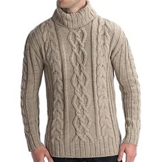 Peregrine by J.G. Glover Merino Wool Sweater - Turtleneck (For Men) in Beige