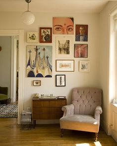 reading nook + gallery wall