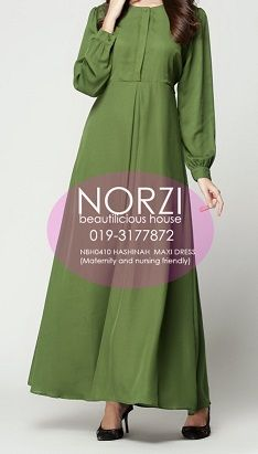 NBH0410 HASHINAH MAXI DRESS (NURSING FRIENDLY)