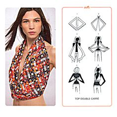 Hermès: Scarf Knotting Cards. Las cartas para anudar pañuelos Hermès