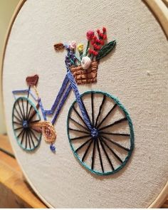 Grand Sewing Embroidery Designs At Home Ideas. Beauteous Finished Sewing Embroidery Designs At Home Ideas. Hand Embroidery Flowers, Hand Embroidery Stitches, Embroidery Hoop Art, Hand Embroidery Designs, Ribbon Embroidery, Cross Stitch Embroidery, Embroidery Ideas, Hand Stitching, Hand Embroidery Videos