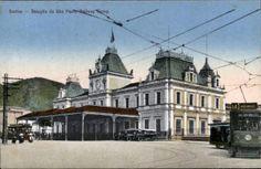 A Estação do Valongo, em postal do final da década de 1910, início de 1920. Edição de Cesar Matetos, fotos originais de  Colombo &, Francesconi
