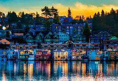 Famous floating house on Lake Union Seattle WA.