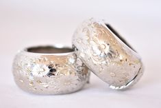 """Vintage Napier Floral Boho Hinged Hoop Clip On Statement Earrings Silver Tone Signed Retro Costume Jewelry 1.25"""" by DecoOwl on Etsy"""