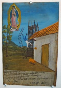 Ex-voto: Thank you Virgin, for sending a pig to break my fall.