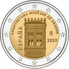 2 euro coin Mudéjar Architecture of Aragon Timbre Collection, Euro Coins, Gold Money, Commemorative Coins, World Coins, Aragon, Money Matters, Coin Collecting, Charcuterie