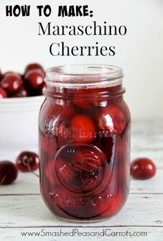 How to Make Maraschino Cherries // SmashedPeasandCarrots.com