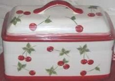Cherries bread box  I have one of these from Target a couple years.  Very cute