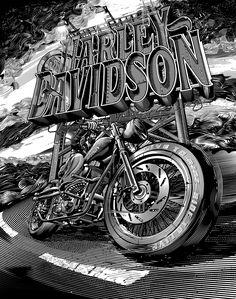 "Consulta este proyecto @Behance: ""Harley Davidson Illustrations"" https://www.behance.net/gallery/36453107/Harley-Davidson-Illustrations"