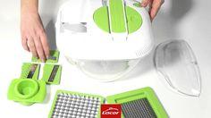 Mandolina de cocina, centrifugadora de verduras, cortador multifunción L...