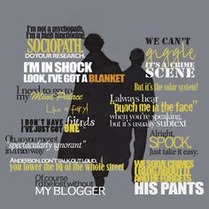 Sherlock Quotes - most amazing and best show ever!  Thank you BBC!