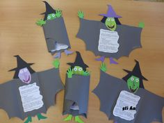 With witch poem or joke? Diy Halloween, Bricolage Halloween, Adornos Halloween, Manualidades Halloween, Halloween Carnival, Halloween Crafts For Kids, Holidays Halloween, Happy Halloween, Halloween Decorations