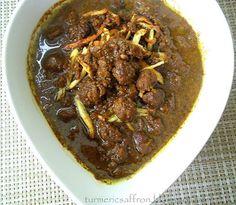 Turmeric & Saffron: Fesenjoon - Pomegranate Walnut Stew with Tiny Meat...