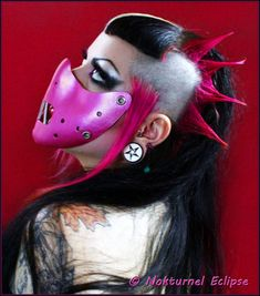 Pink Hannibal Lecter Leather Mouth Restraint by NokturnelEclipse, $39.99