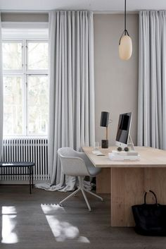 scandinavian minimal office