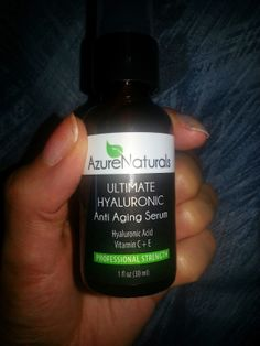 Test + Try =Results : Azure Naturals ULTIMATE HYALURONIC ACID Serum