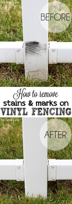 Clean Up Fast and easy way to get stains and marks off vinyl fencing.Fast and easy way to get stains and marks off vinyl fencing.
