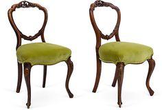 Antique Balloon-Back Side Chairs, Pair :: $235 | OneKingsLane.com :: LOVE. WANT!