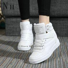 新しい2016春秋のアンクルブーツのかかとの靴女性カジュアルシューズ身長増加高トップ靴混合色冬のブーツ