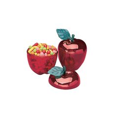 Red Apple Containers - Oriental Trading -$15.00 for twelve containers....I can think of so many uses for these!