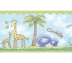 Jungle Love Nursery Wall Border Art Impressions http://www.amazon.com/dp/B000QJAP6O/ref=cm_sw_r_pi_dp_8dJ3wb1A1BNWG