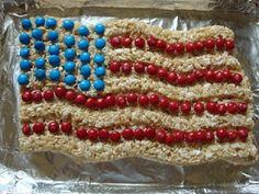 Rice Krispie Treats Flag