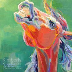 Horse art, Equine art, for sale.: Last Laugh by Kimberly Kelly Santini - http://horse-art.blogspot.com/2014/05/last-laugh-by-kimberly-kelly-santini.html